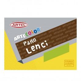 Bolsón paño lenci Artel 20 x 30cm colores x 6ud