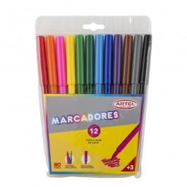 Marcador Artel 12 colores x1ud