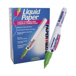 Lápiz corrector Paper Mate punta metálica 7ml x12ud