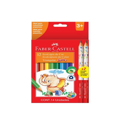 Lápices colores Faber Castell jumbo 121 colores + 2 gráfitos