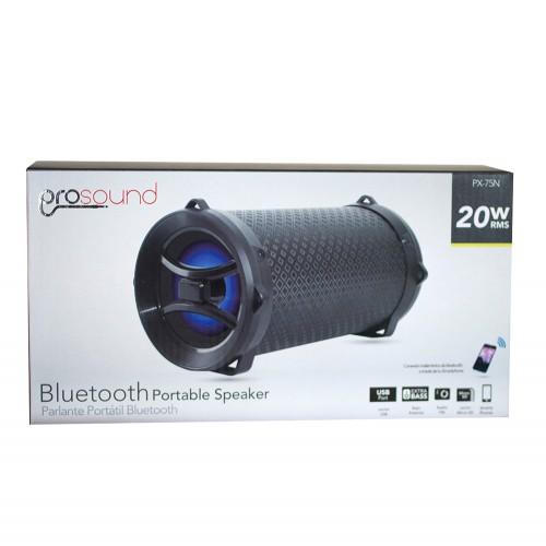 Parlante bazooka Prosound bluetooth radio USB negra