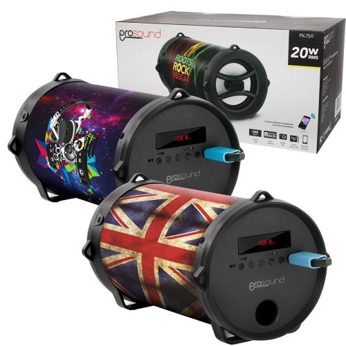 Parlante bazooka Prosound bluetooth radio USB diseños