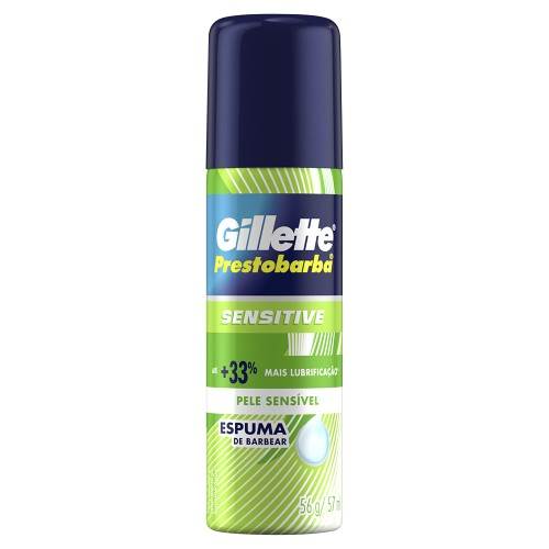 Espuma de afeitar Gillete mini foam sensitive 56gr