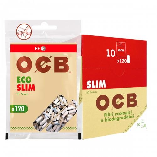 Filtro slim cañamo Ocb x10 bolsitas