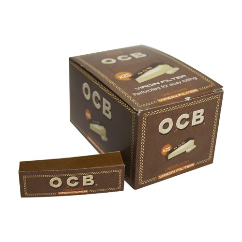 Filtro carton virgin Ocb x25 filter tips