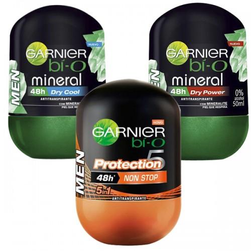 Desodorante de hombre GARNIER ROLL ON MINERAL x50GR