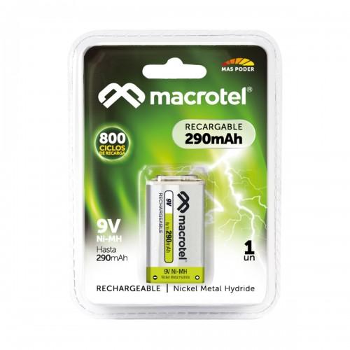 Batería recargable Macrotel 9vx1 160 mah
