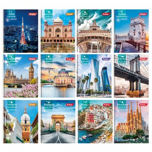 Cuaderno universitario Torre clásico ciudad 100hj x10ud