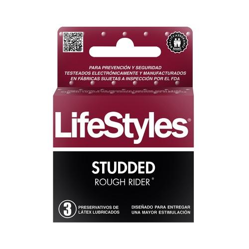 Preservativos LIFESTYLE rough rider X 3 031 STUD