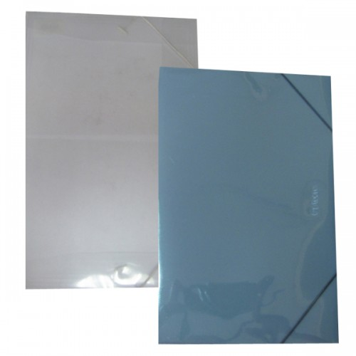 Carpeta Torre plástica transparente oficio con elastico x1ud