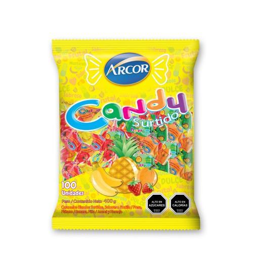 Caramelos Candy masticable sabores frutales bolsa 1x400gr