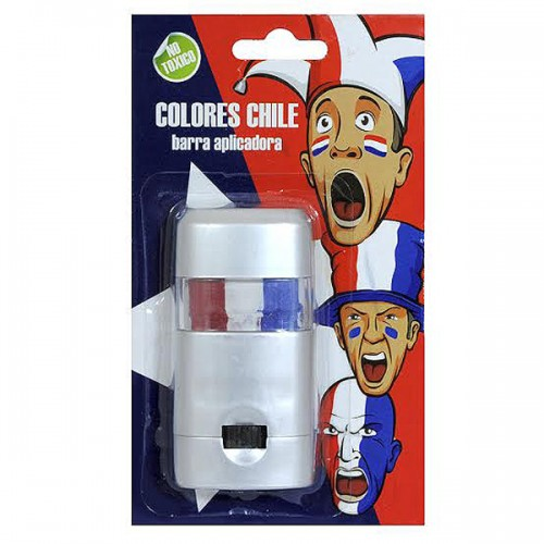 BARRA PINTA CARA CHILE 3COLORES BLISTERX1