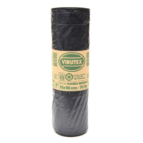 Bolsa basura Bio Virutex 70x90cms rollo x10u