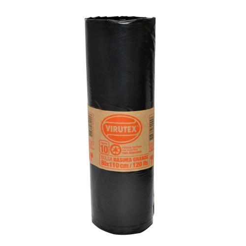 Bolsa basura Bio Virutex 80x110cms rollo x10u