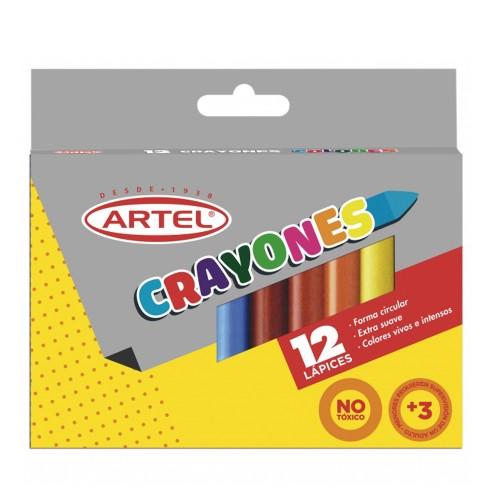Lápices cera Artel crayón 12 colores x 1 unidad