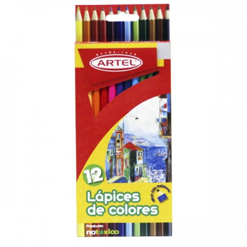 Lápiz color Artel largos 12 colores x1ud