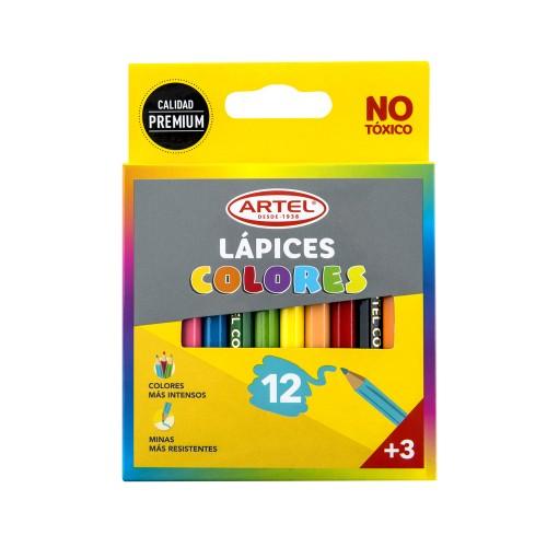 Lápices color Artel 12 colores cortos x 1 unidad