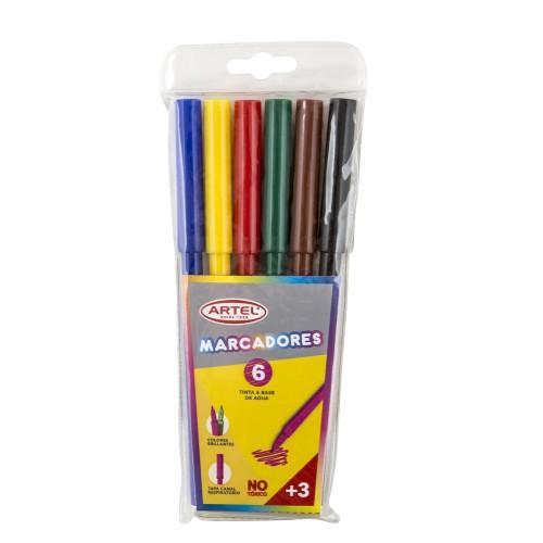 Lápiz scripto Artel colores 6 colores x1ud