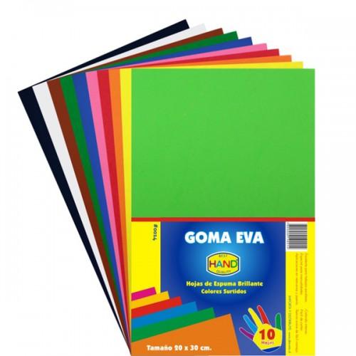 Goma eva Hand color x10 unidades