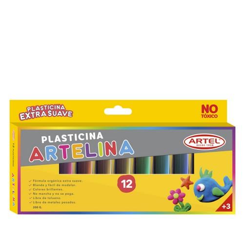 Plasticina Artel artelina 12 colores x1ud