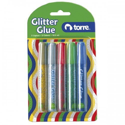 Glitter glue Torre Imagia lavable 5 colores x1ud