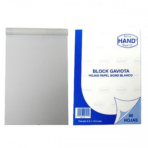 Block gaviota Hand papel bond blanco 80hj x1ud
