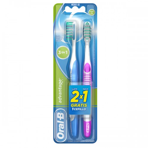 Pack cepillo Oral-B Advantage 3en1 2x1ud