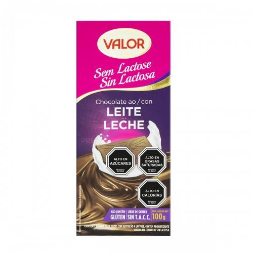 Chocolate con leche Valor sin lactosa 100 g