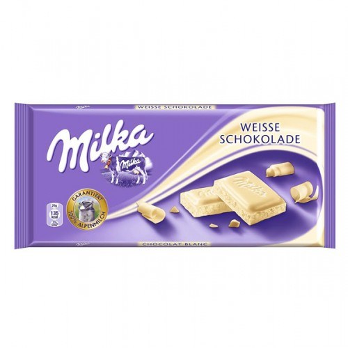 Chocolate tableta Milka blanco 100g