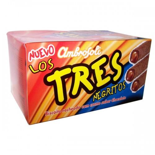 Tres negritos relleno con crema sabor chocolate 24x24 g