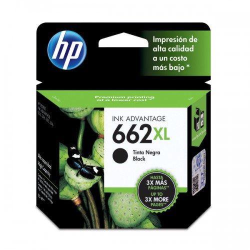 Tinta HP cartridge 662XL negro 6.5ml x1ud