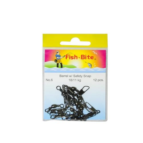 Destorcedores con Gancho Fish Bite Negro n°6