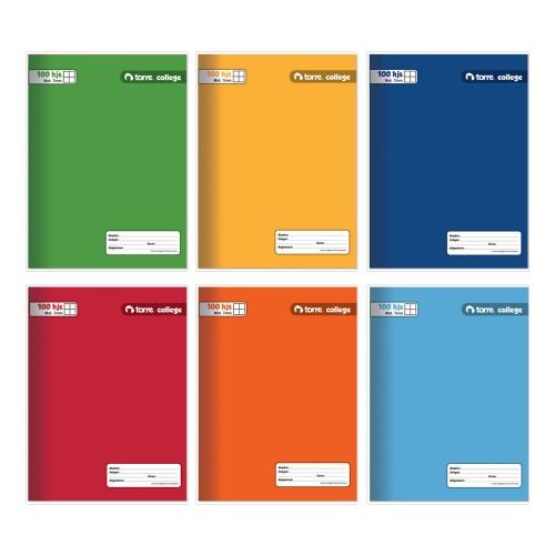 Cuaderno college Torre caligrafía horizontal 7mm 100hjx10ud
