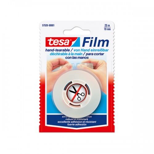 Cinta adhesiva Tesa corte fácil 19mm x25mt x 1ud