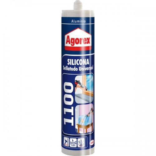 Silicona Agorex 1100 300 ml aluminio