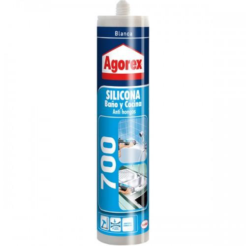 Silicona Agorex baño/cocina 300 ml blanco