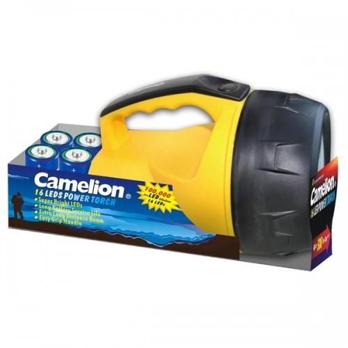 Linterna foco Camelion 16 led incluye 4 pilas D