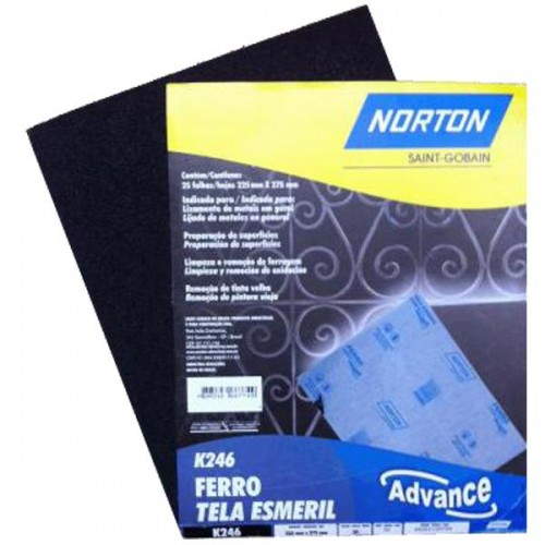 Lija metal Norton K246 80g x 25unidades