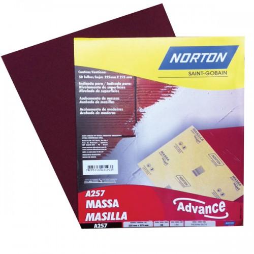 Lija madera Norton A257 80 g x 50 unidades