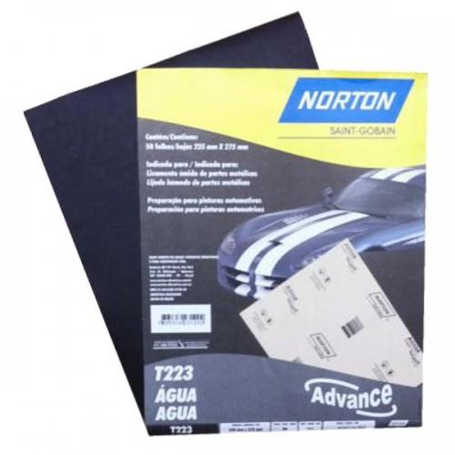 Lija agua Norton T223 320 g x 50 unidades