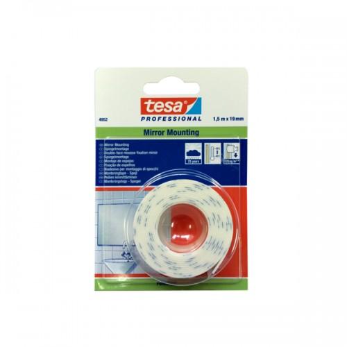 Cinta doble faz Tesa objetos pesados 19 mm x 1,5mt