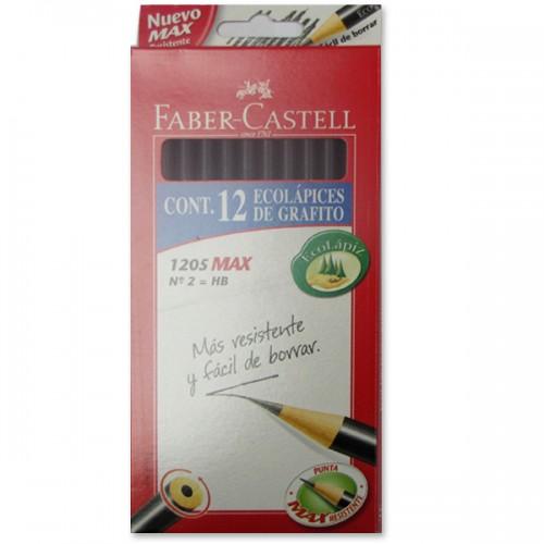 Lápiz grafito Faber-Castell redondo HB n°2 x12ud