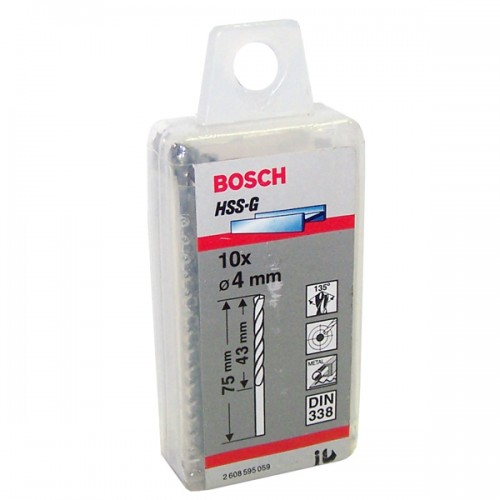 Broca de metal Bosch 4 mm display x 10 u
