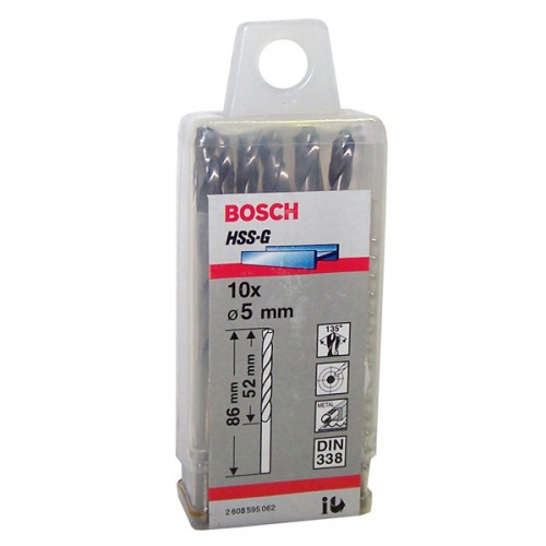 Broca de metal Bosch 5 mm display x 10 u