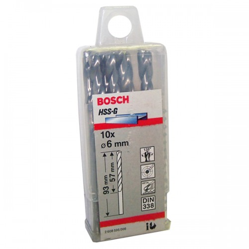 Broca de metal Bosch 6 mm display x 10 u