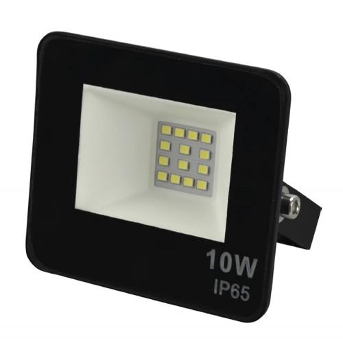 Reflector led 10W luz fria negro Logic