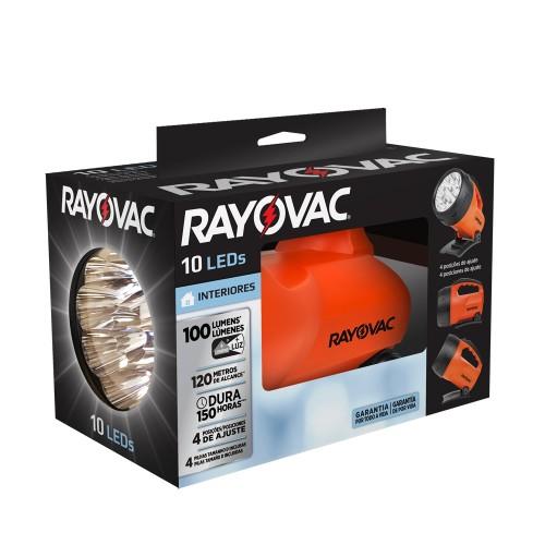Foco 10leds c/pilas D 100 lumens Rayovac