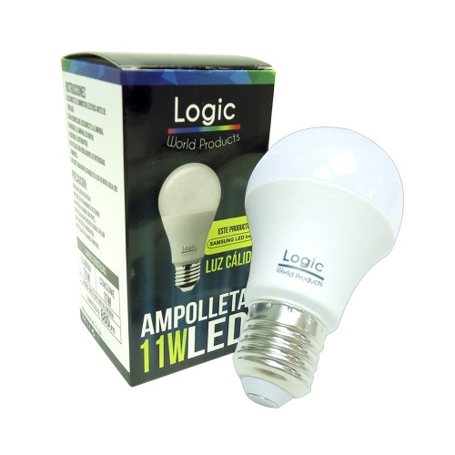Ampolleta Led Logic 11W luz calida