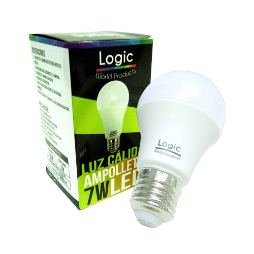 Ampolleta Led Logic 7W  luz calida