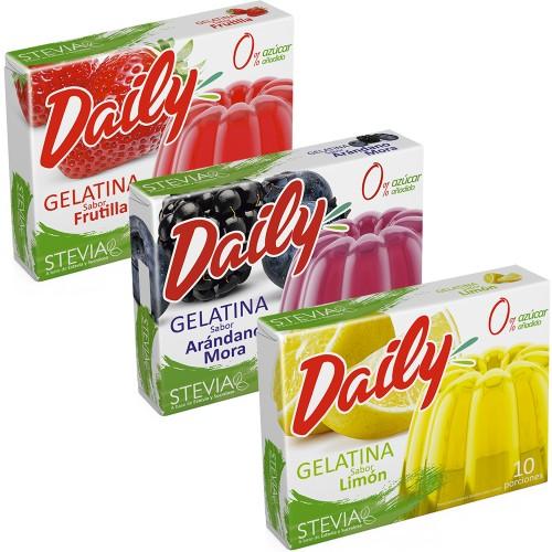 Gelatina Daily Con Stevia